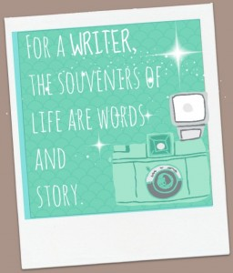 polaroid souvenir of writer
